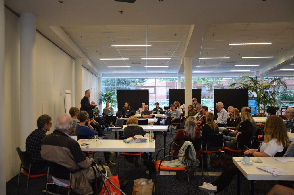 In gesprek bij de workshop VN-ambassadeurs en gemeenten.